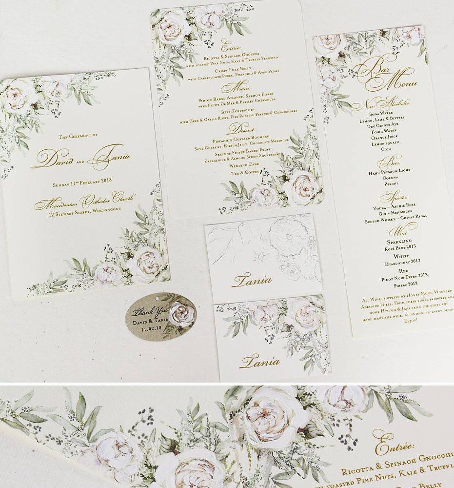 Botanical Wedding Day Accessories