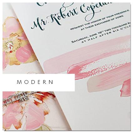 Modern Watercolor Wedding Invite