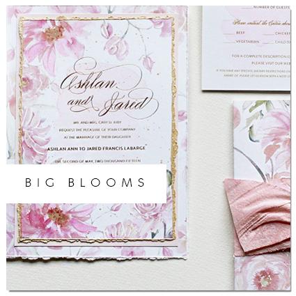 Watercolor Flowers Wedding Invite