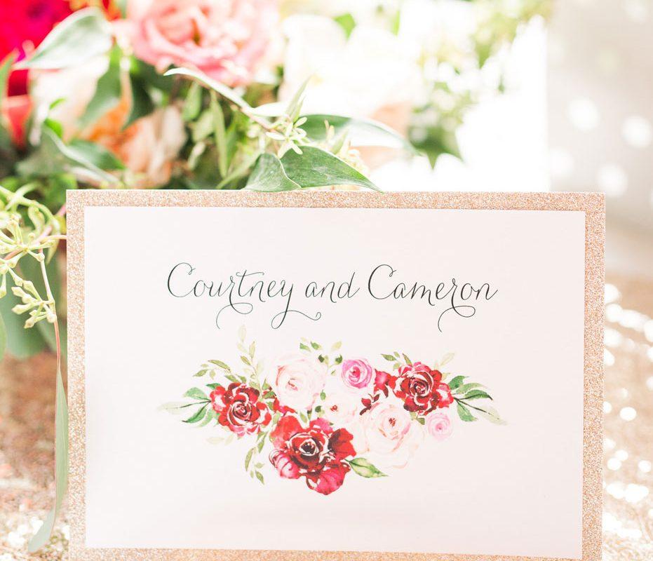 Fall Floral Wedding Stationery