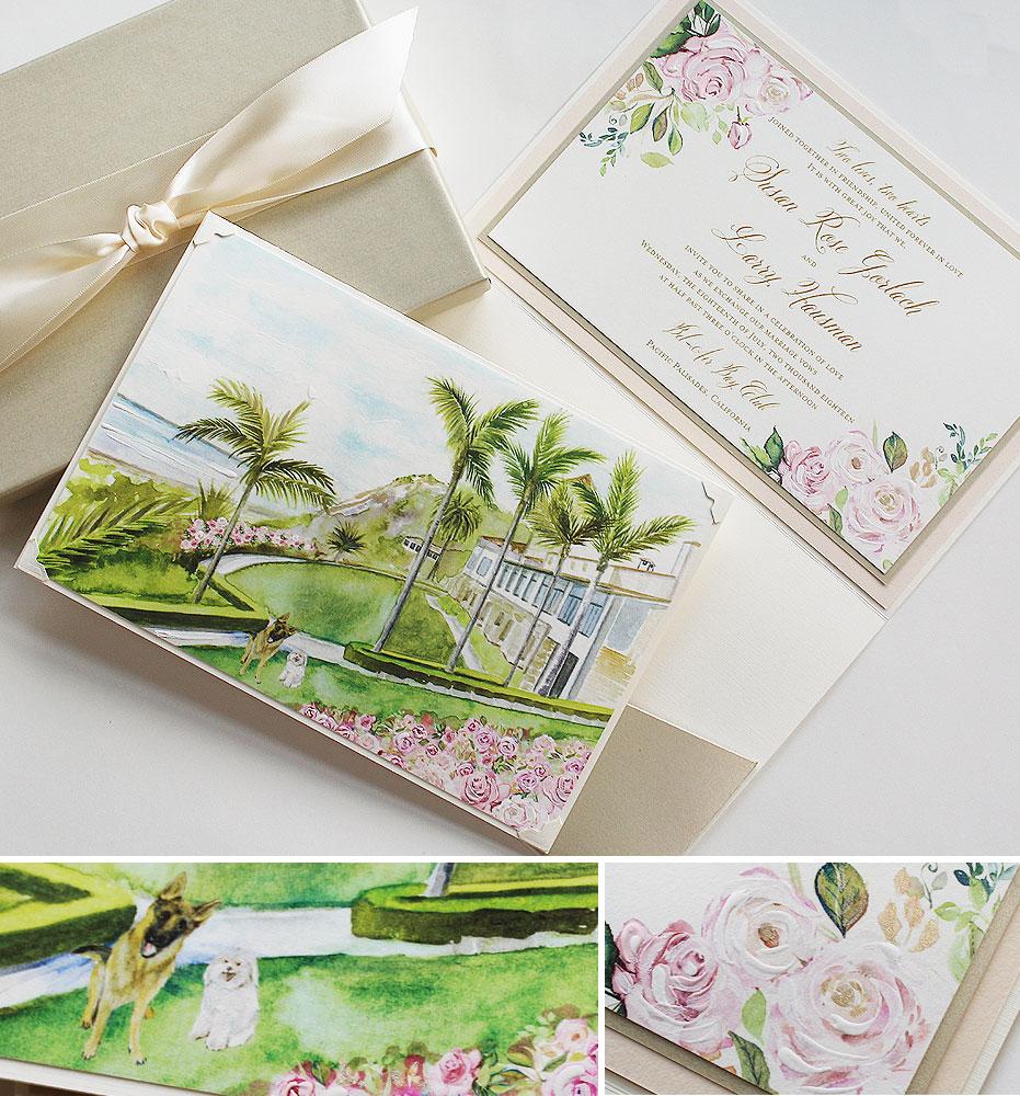 California Wedding Invitation