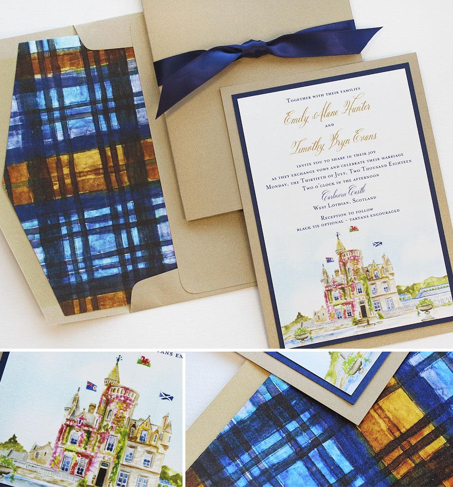 Scotland Wedding Invitations