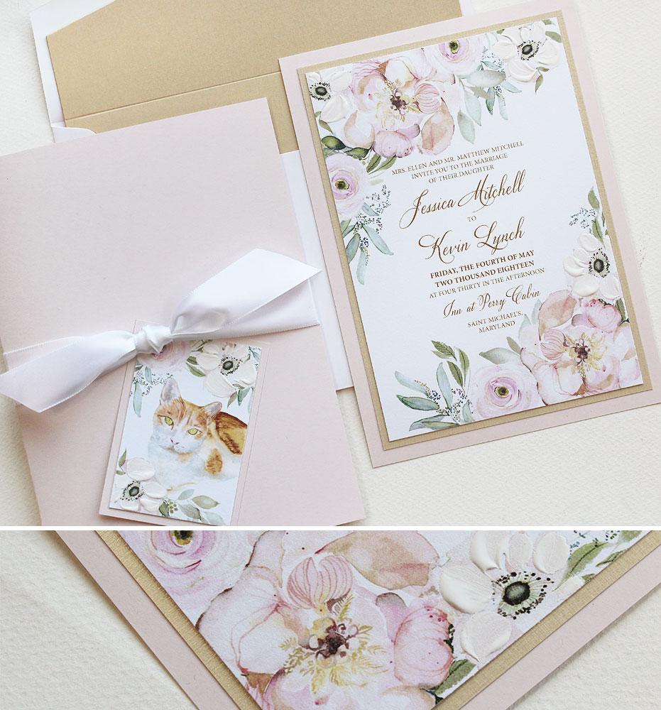 Blush Peony Wedding Stationery