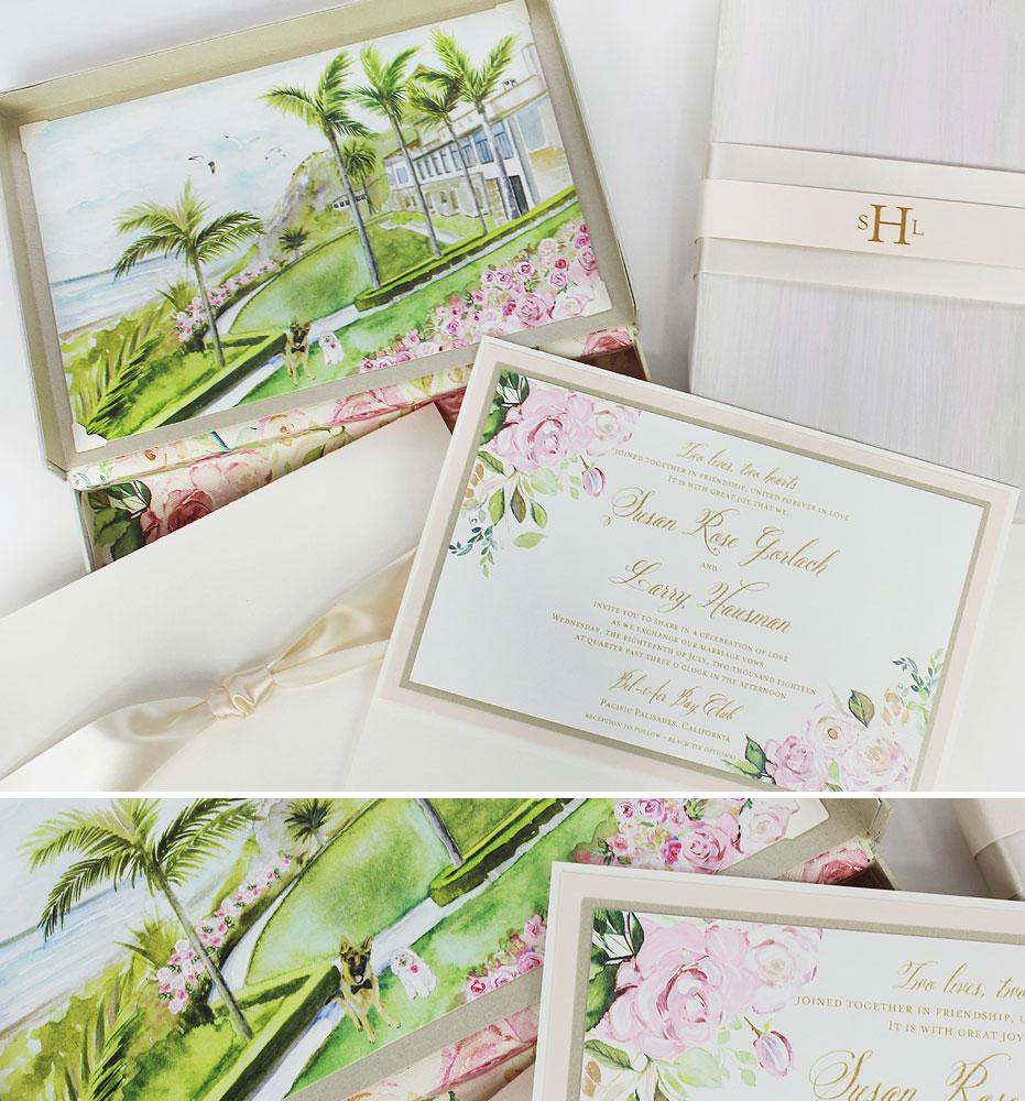 California Coast Wedding Invitations