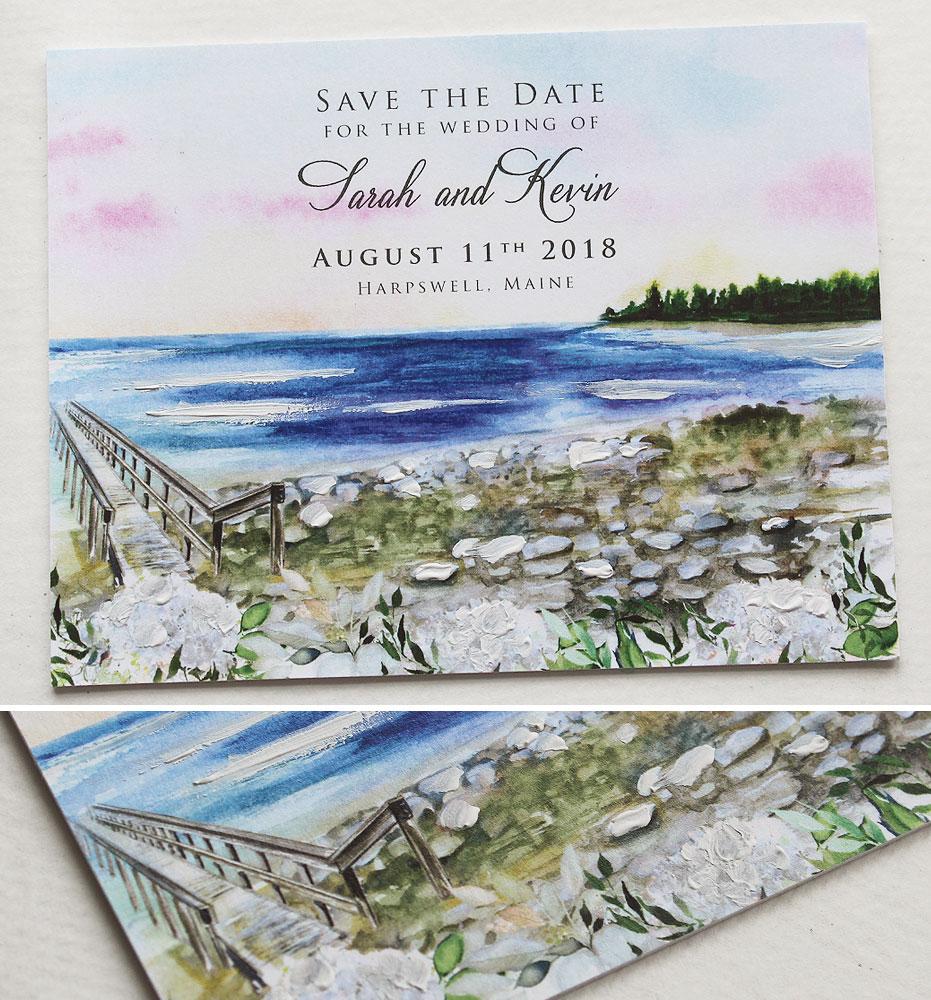 Maine Wedding Save the Date