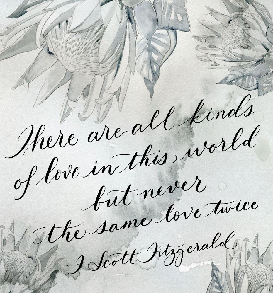 Painterly Prose F. Scott Fitzgerald Quote