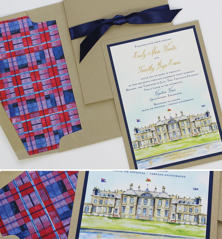 Scotland Destination Wedding Invitation
