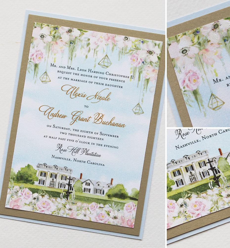 Southern Plantation Wedding Invitation