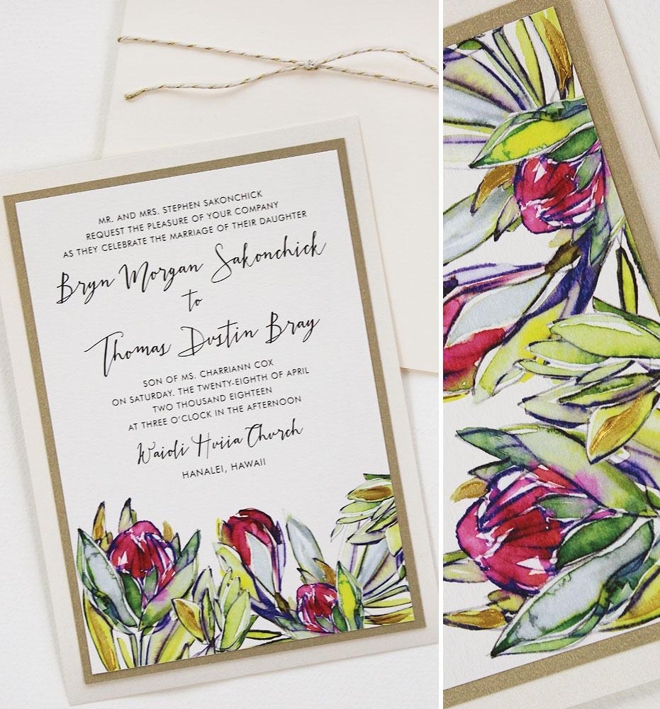 Protea Wedding Invitation