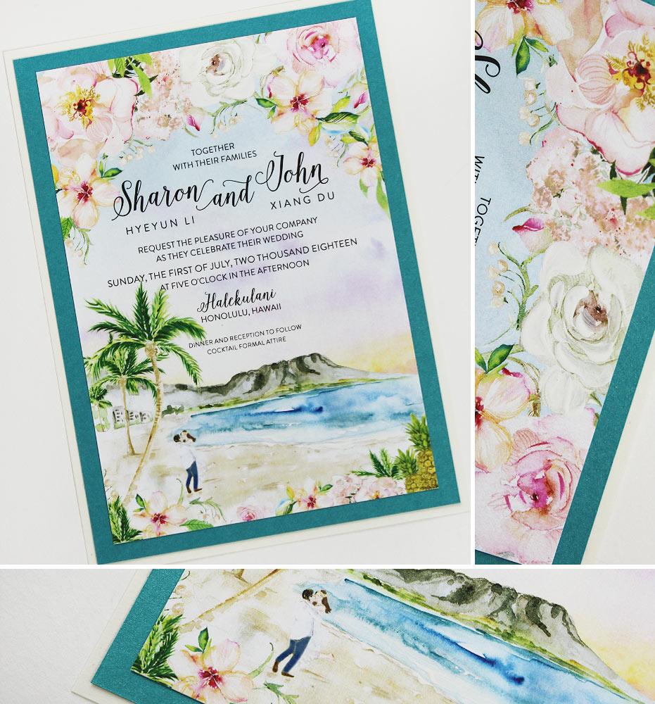 Hawaii Destination Wedding Invitations