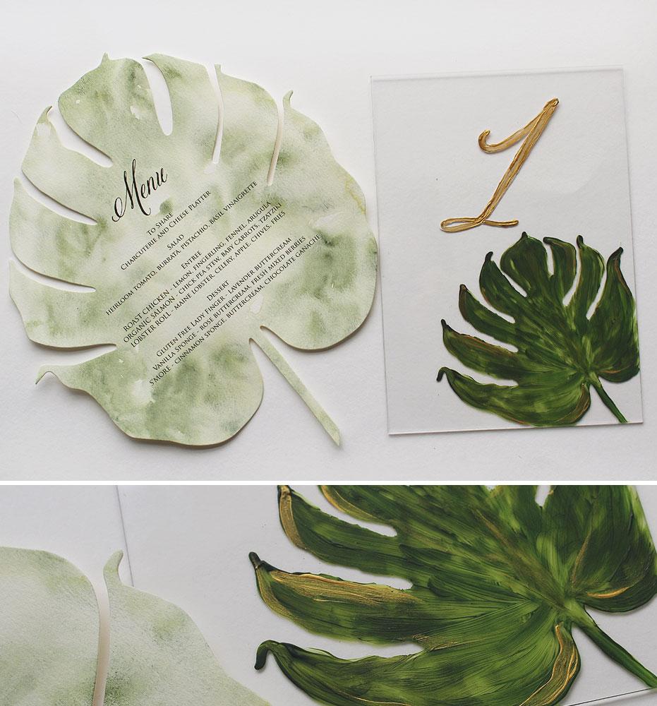 Tropical Palm Leaf Wedding Day Accessories