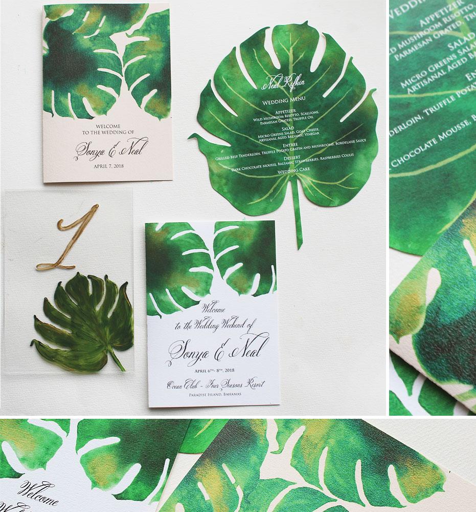 Tropical Palm Wedding Stationery