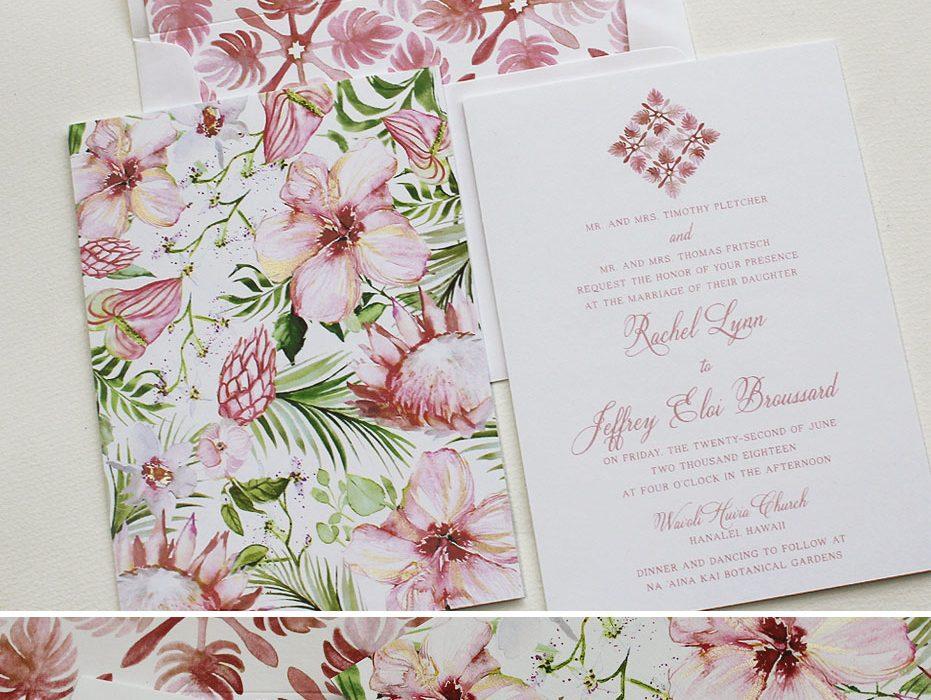 Tropical Pattern Wedding Stationery