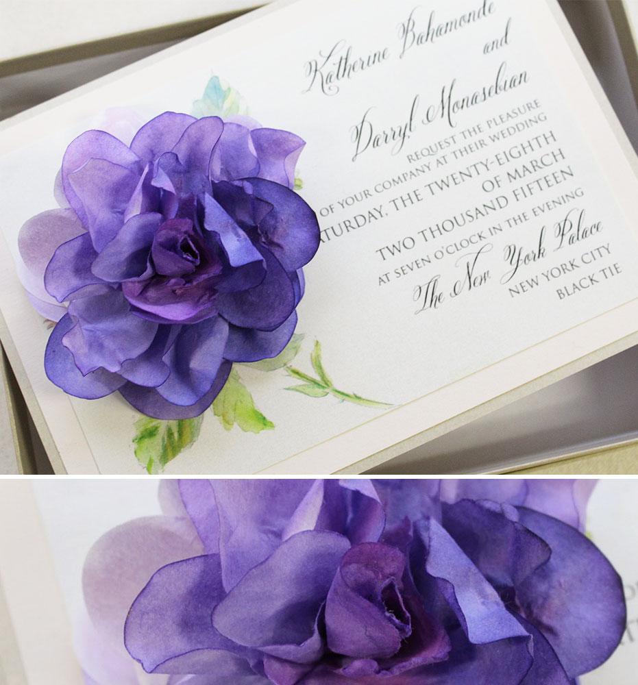 Pantone Ultra Violet Wedding Invitations