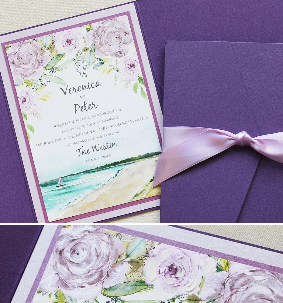 Ultraviolet Wedding Invitations