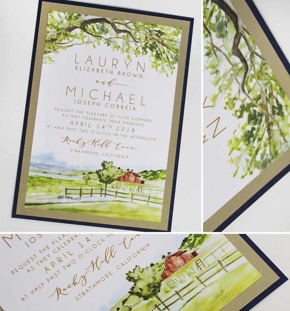 Rustic Farm Wedding Invitation