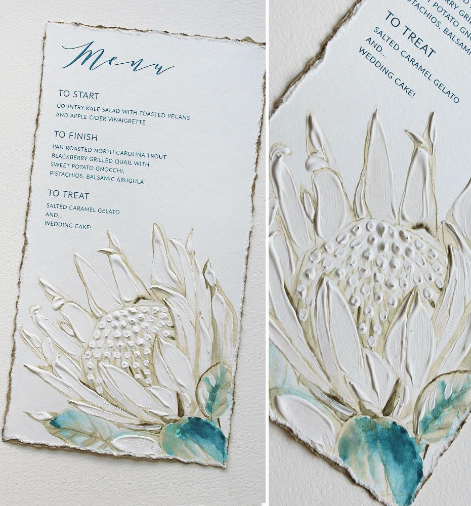 Protea Wedding Stationery