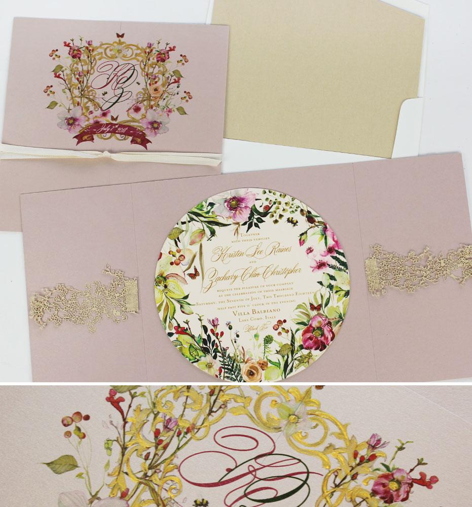 Italian Garden Wedding Invitations