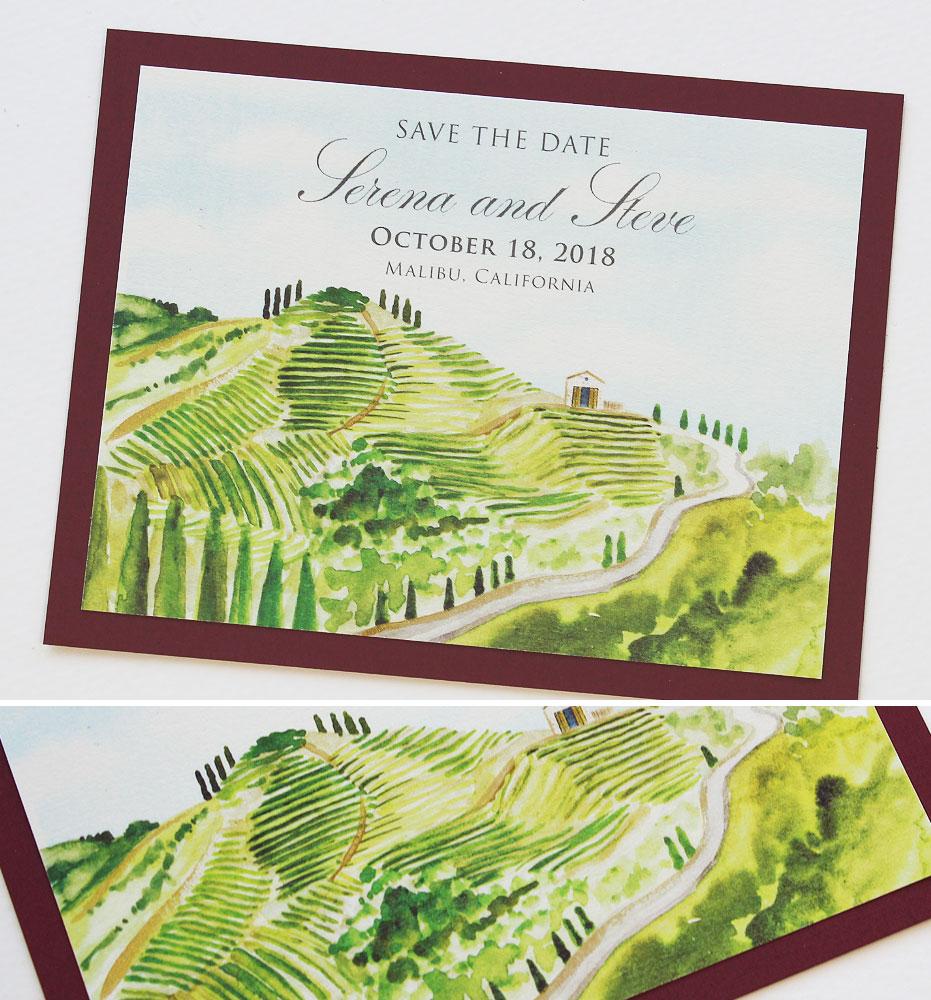 Vineyard Wedding Save the Dates
