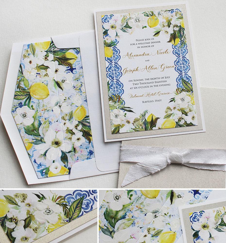 Ravello Italy Wedding Invitations