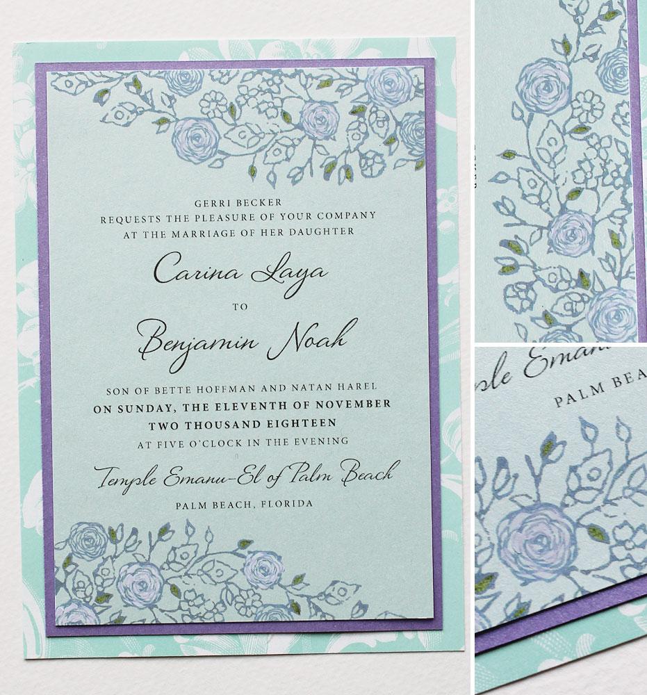 Vintage Lacy Pattern Wedding Invitation