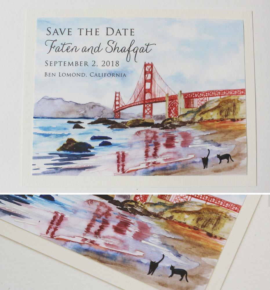 California Wedding Save the Dates