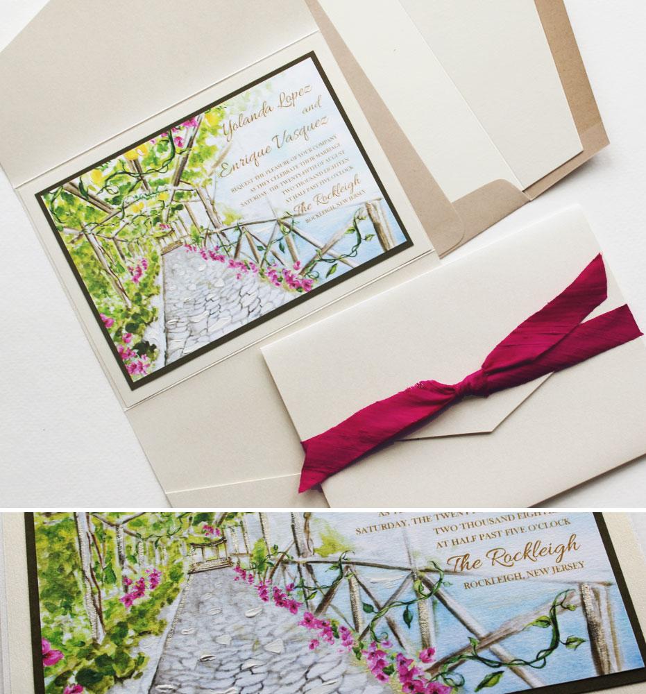 New Jersey Rockleigh Wedding Invitations