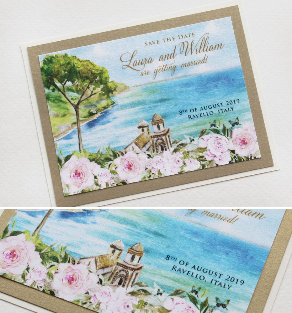 Amalfi Coast Wedding Save the Dates