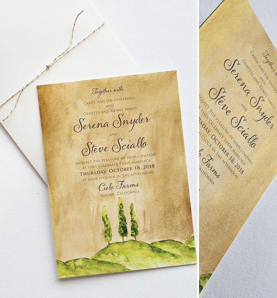 Autumn Farm Wedding Invitations