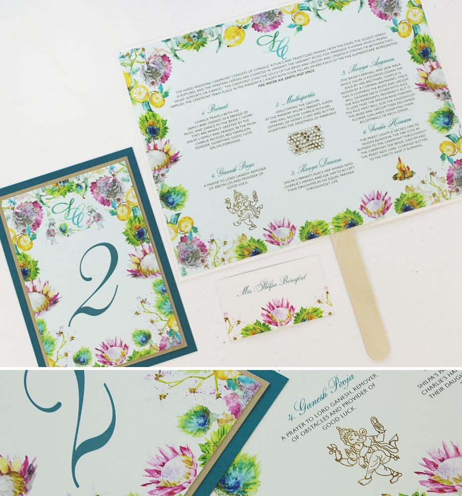 Bright Floral Pattern Wedding Day Accessories
