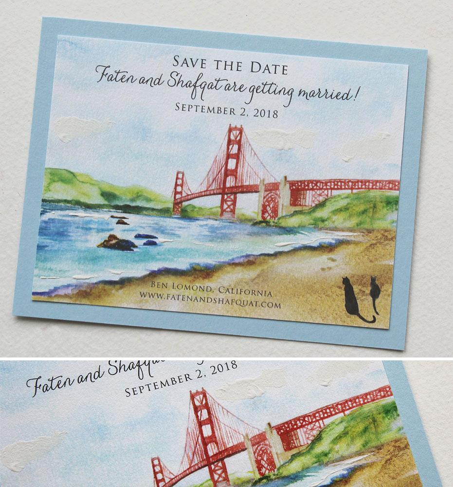San Francisco Wedding Invitations