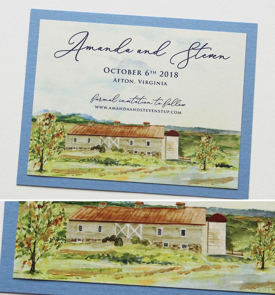 Virginia Wedding Invitation