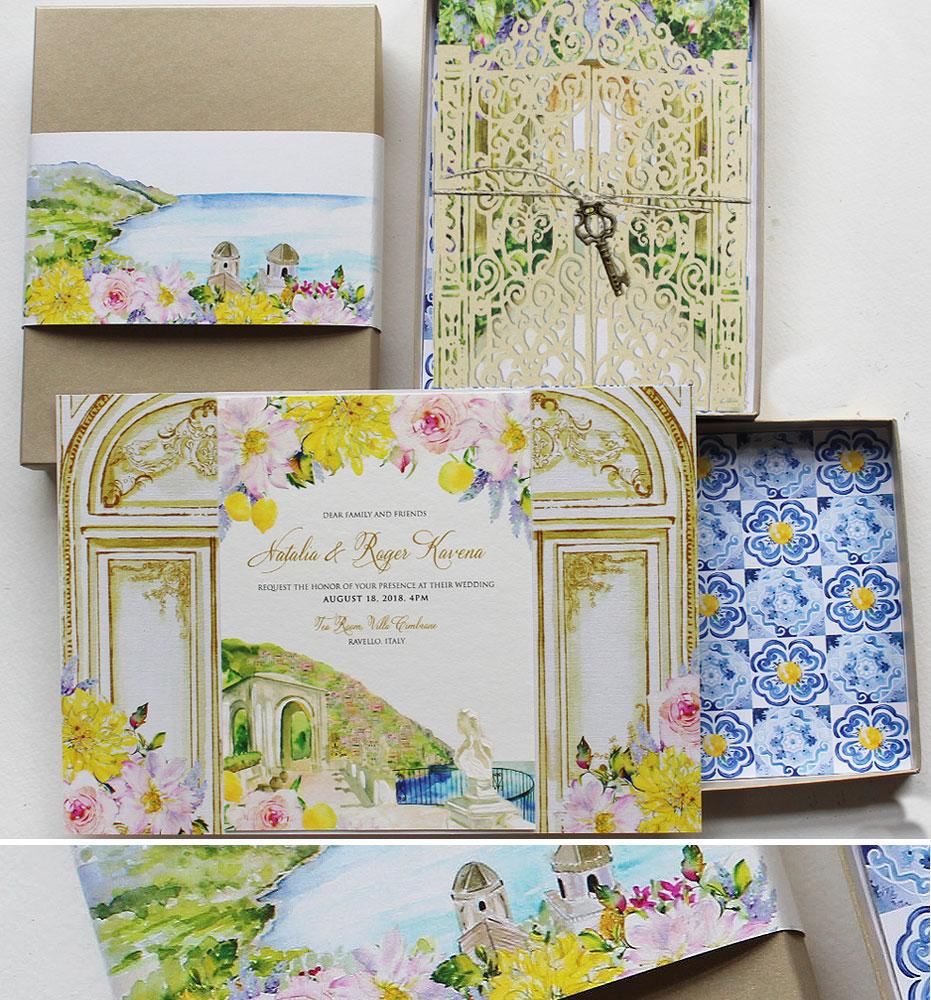 Villa Cimbrone Wedding Invitations