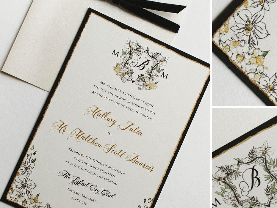 Black Tie Destination Wedding Invitations