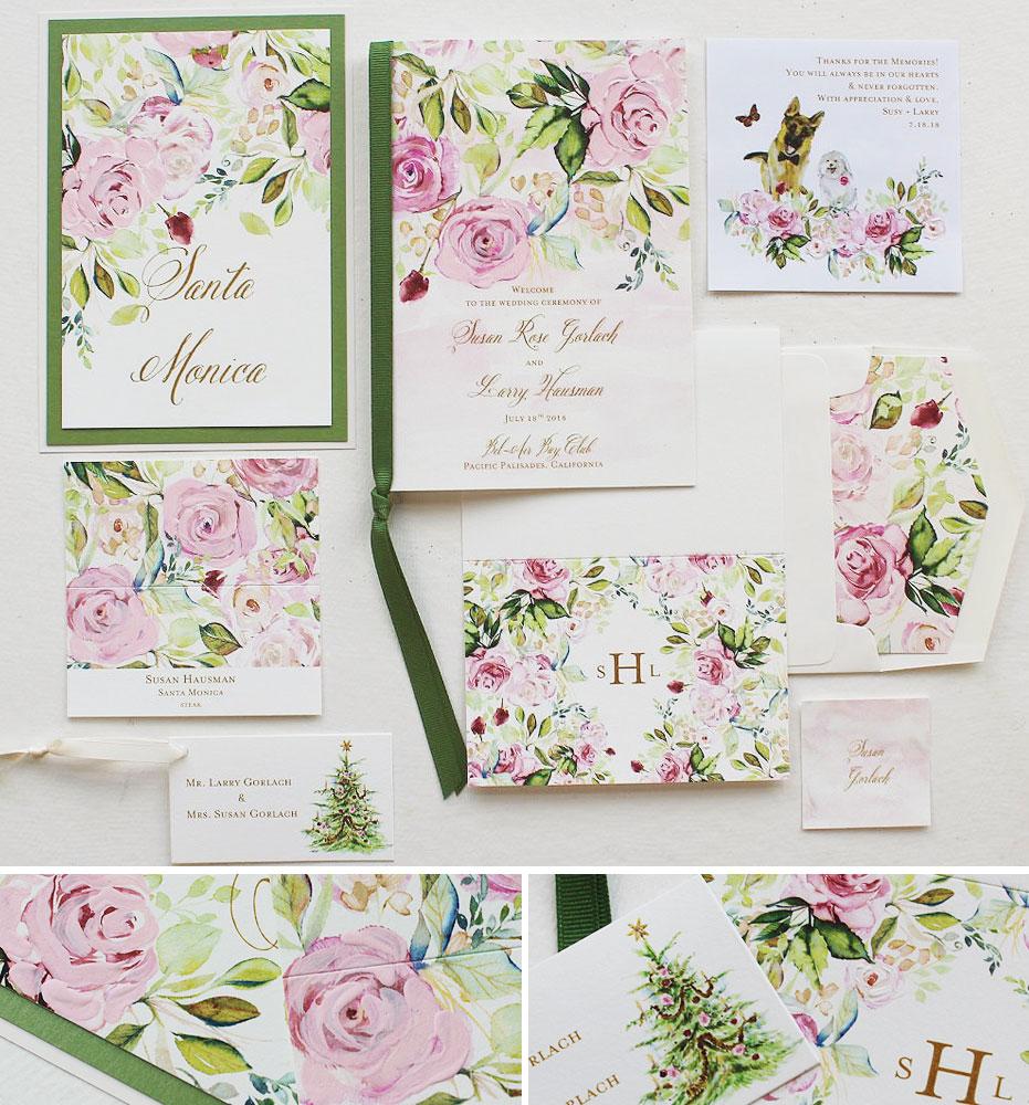 Floral Pattern Wedding Day Accessories