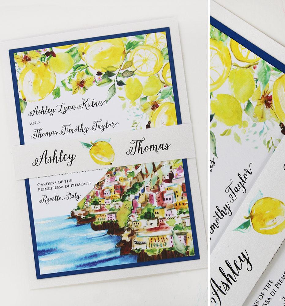 Amalfi Coast Wedding Invitation