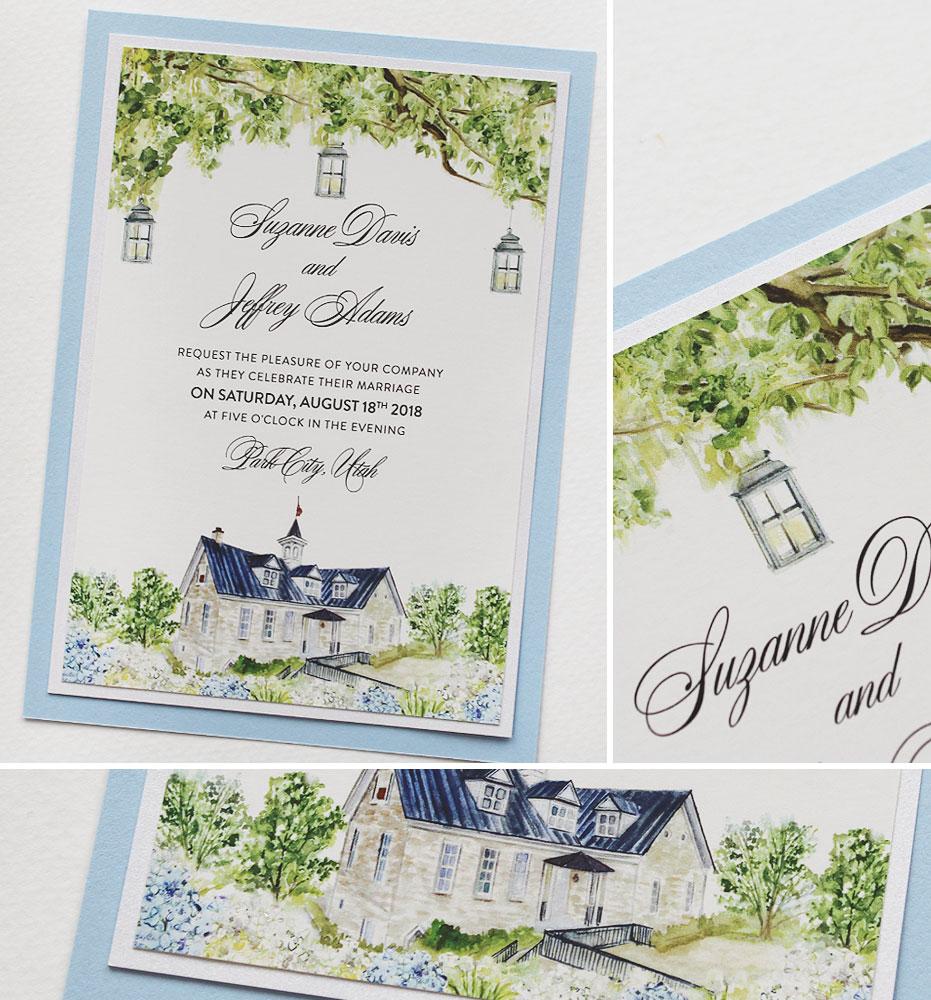 Utah Wedding Invitation