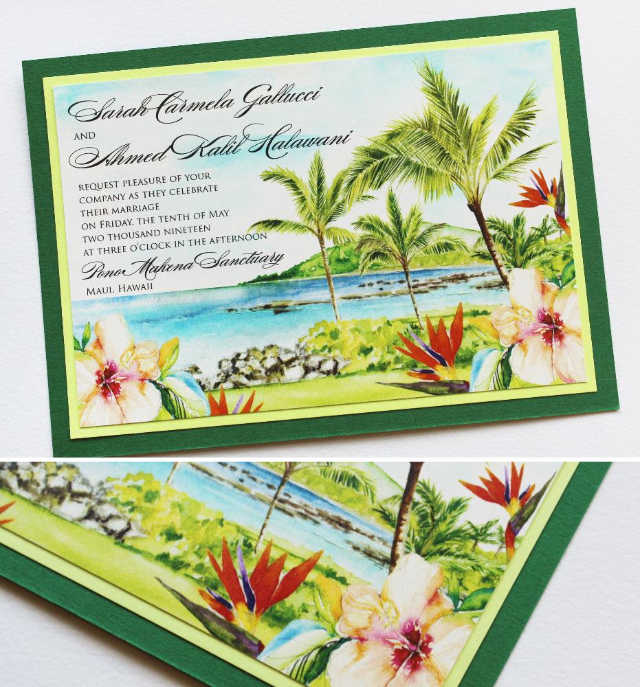 Bird of Paradise Tropical Wedding Invitations