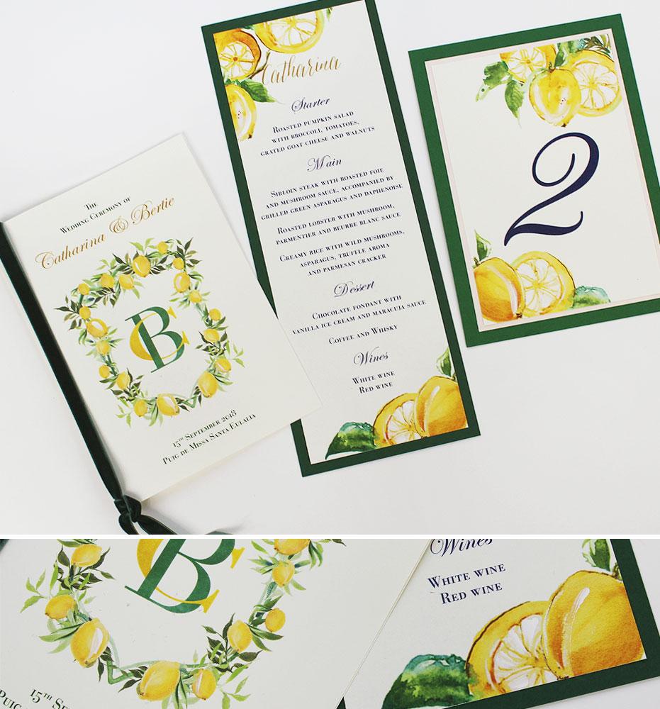 Lemon Wedding Day Accessories