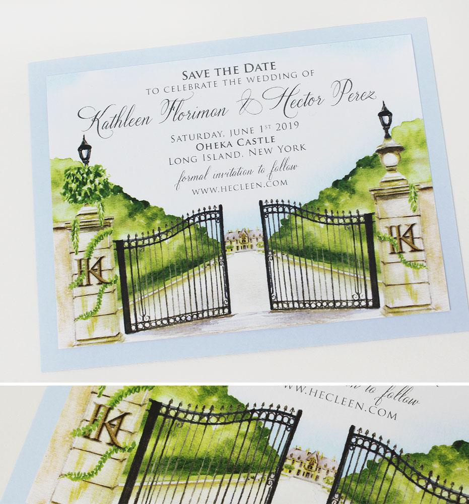 Oheka Castle Wedding Invitations