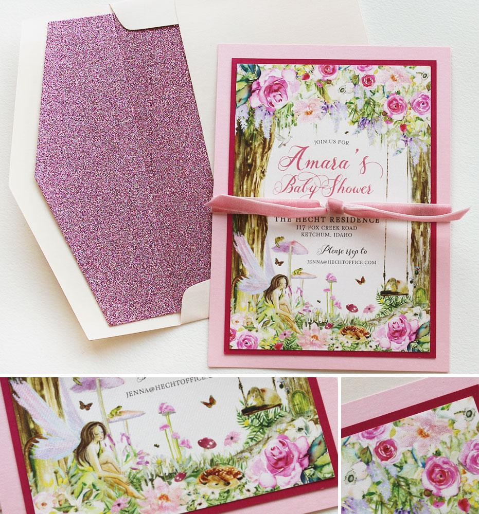 Woodland Fairy Baby Shower Invitation