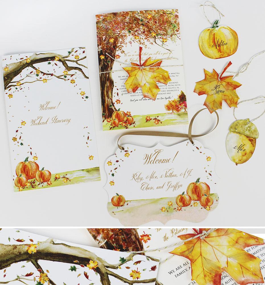 Autumn Leaf Wedding Day Accessories