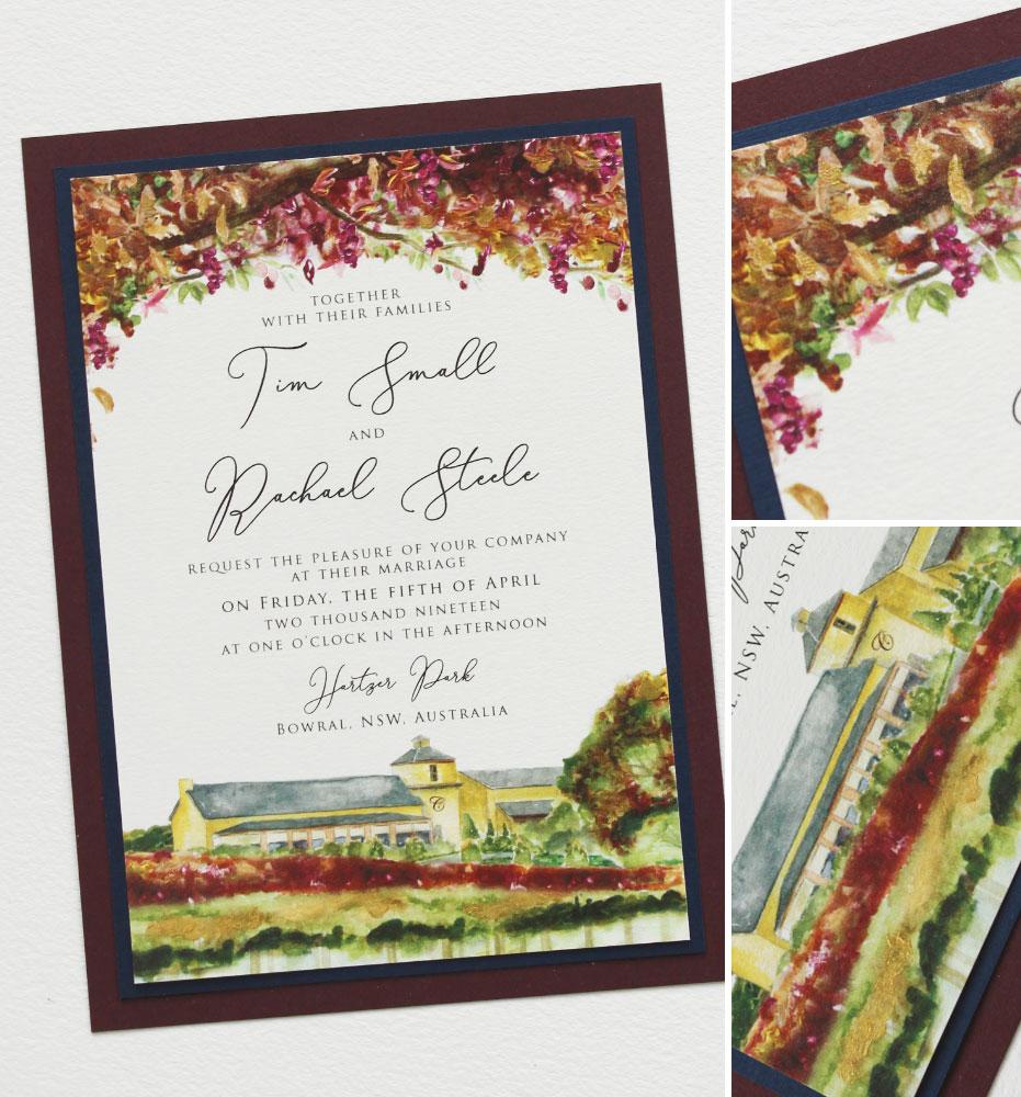 Autumn Tree Wedding Invitation