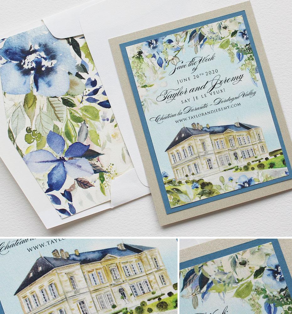 Chateau Wedding Invitations