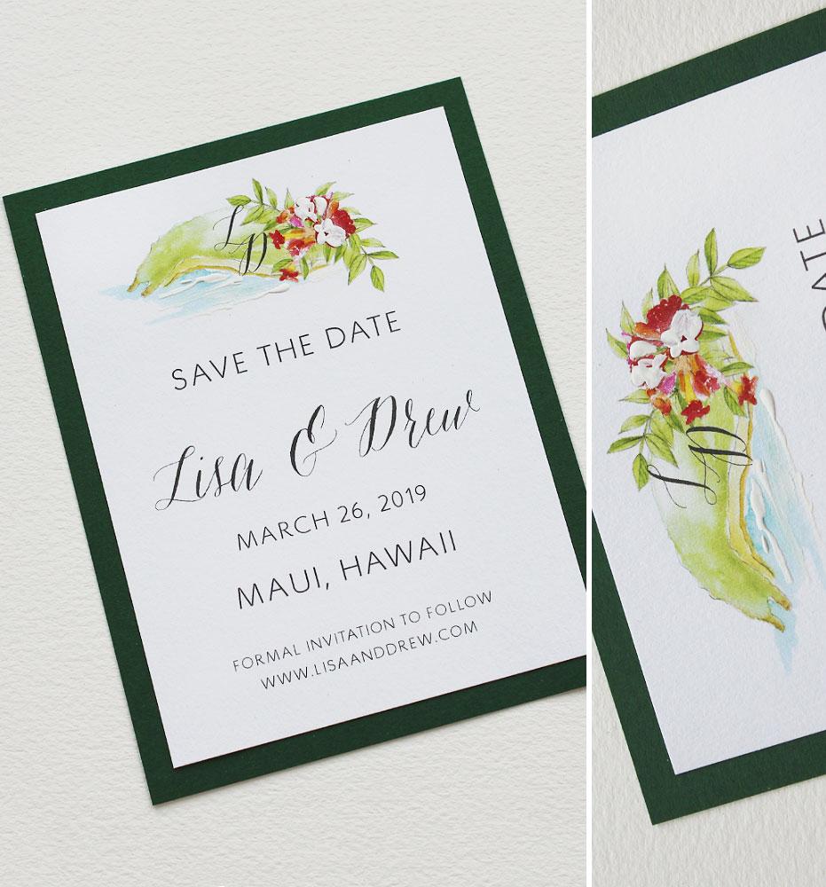 Maui Hawaii Wedding Save the Date