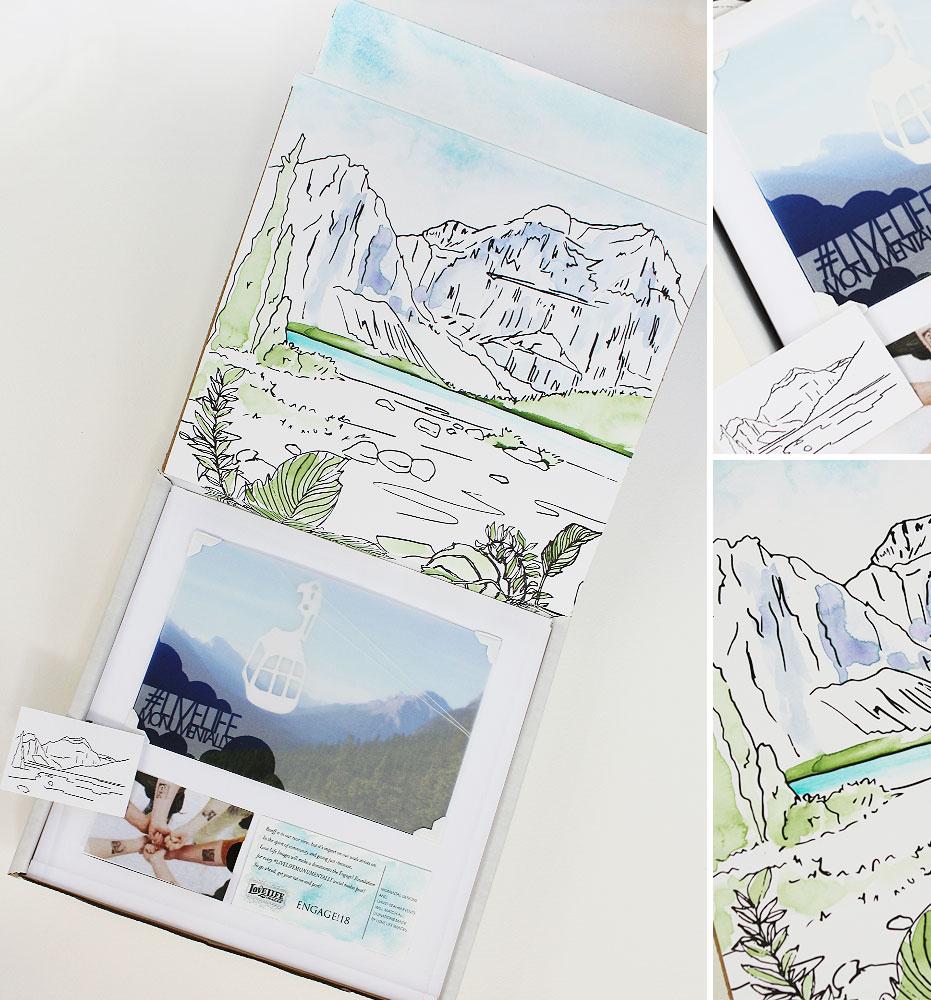 Mountain Scene Boxed Invitation