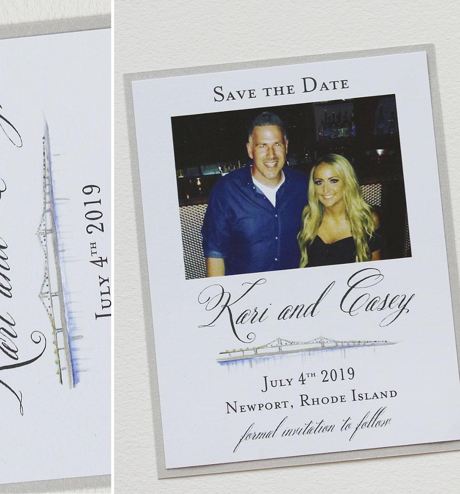 Newport Wedding Save the Date