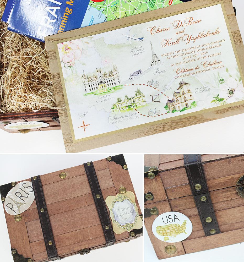 Chateau Challain Wedding Invitations