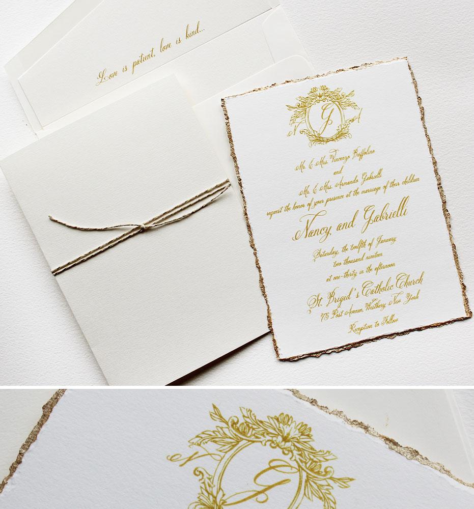 Classic Monogram Wedding Invitations