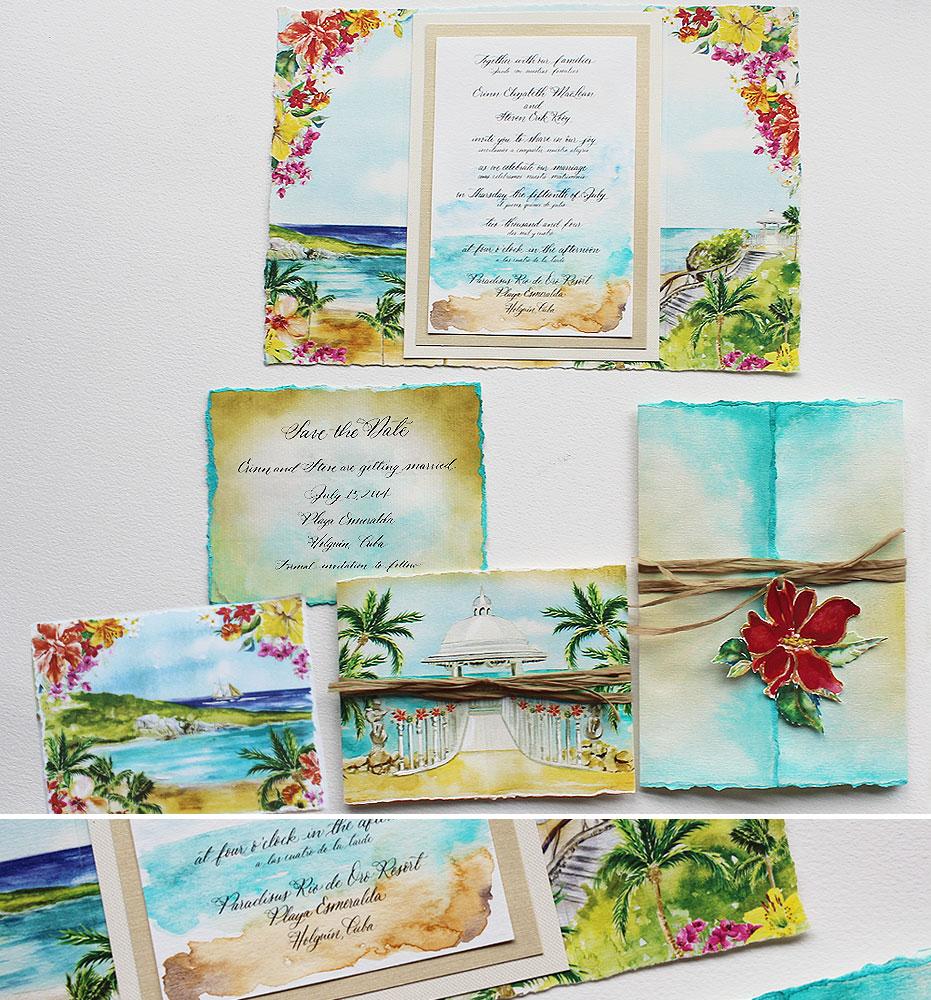Cuba Wedding Invitations